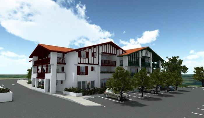 Jolie residence hendaye plage achat appartement hendaye for Achat maison hendaye