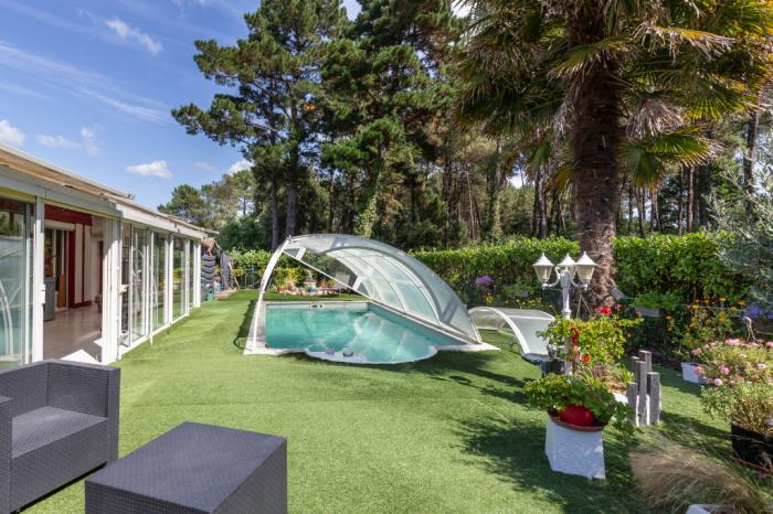 Maison de plain pied avec piscine à Seignosse