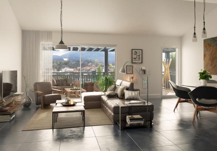 Appartement T3 avec terrasse et jardin