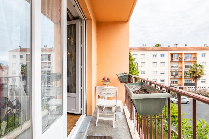 Apartamento de 3 habitaciones en el centro de Anglet
